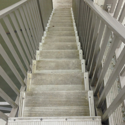 Metal Dock Stairs Before Cleaning