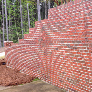 Retaining Wall After Cleaning
